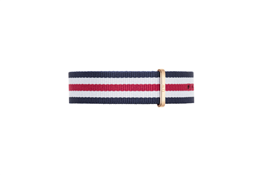 Daniel Wellington Canterbury Rose Gold 20mm Strap  - Click to view larger image