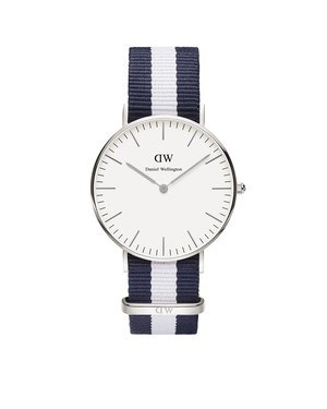 Daniel Wellington Glasgow 36mm Silver Watch  - Click to view larger image