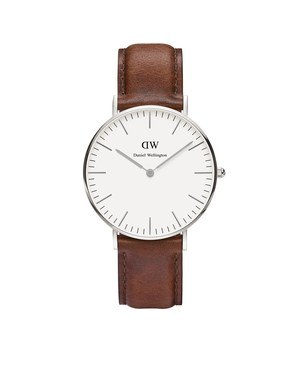 Daniel Wellington St Mawes 36mm Silver Watch  - Click to view larger image