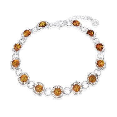 Argento Amber Cut Out Flower Bracelet