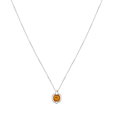 Argento Amber Curved Square Necklace