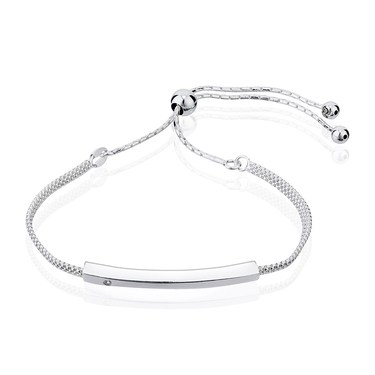 Argento Silver Pull Friendship Bracelet  - Click to view larger image