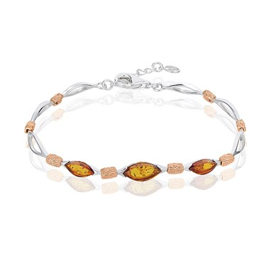 Argento Mix Amber Eye Shaped Bracelet