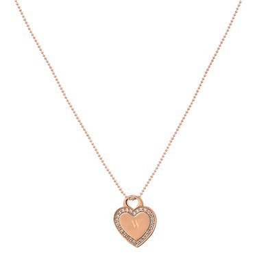 August Woods Rose Gold Heart Necklace