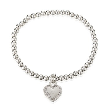 August Woods Outlet  Silver Heart Bracelet