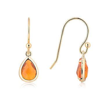 August Woods Gold July Earrings  - Click to view larger image