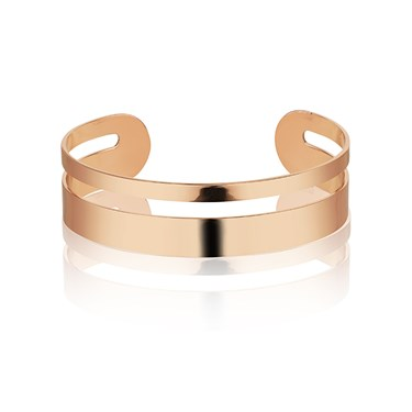 August Woods Rose Gold Cut Out Bangle