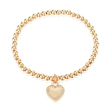 August Woods Outlet  Rose Gold Heart Bracelet