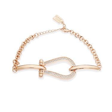 August Woods Rose Gold Sparkling Link Bracelet