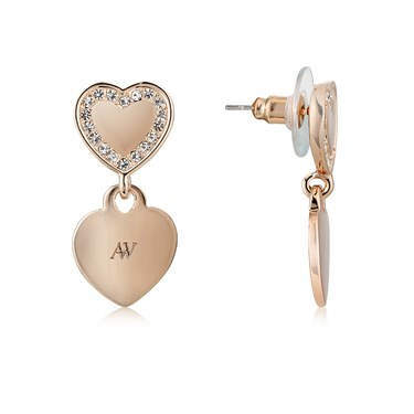 August Woods Outlet  Rose Gold Hearts Statement Earrings