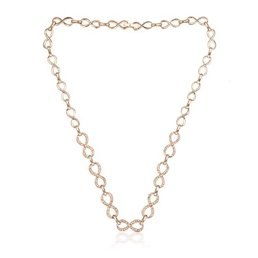 August Woods Rose Gold Peach Crystal Necklace