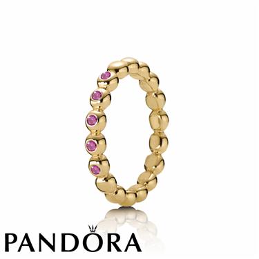 Pandora Pink Sapphire Heart Ring