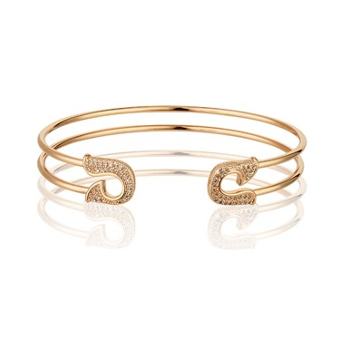 Dirty Ruby Rose Gold Safety Pin Bangle