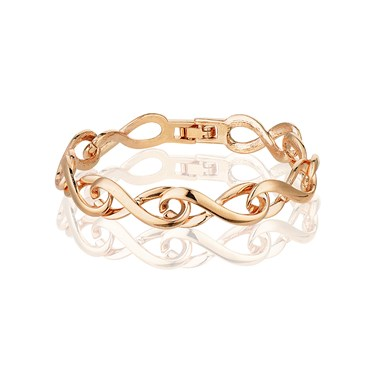 August Woods Rose Gold Tennis Bracelet