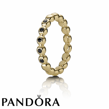 Pandora Black Diamond Bubble Ring