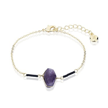 Dirty Ruby Gold & Amethyst Bracelet