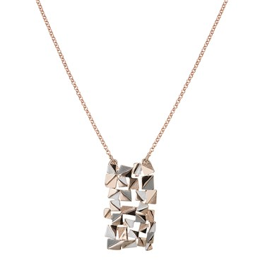 August Woods Rose Gold Abstract Necklace