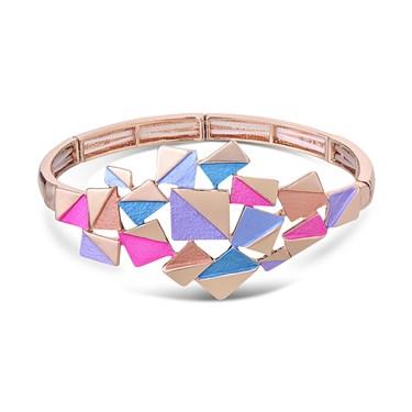 August Woods Rose Gold Geometric Squares Bracelet
