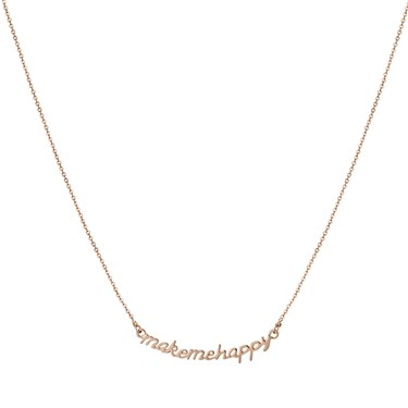 Dirty Ruby Rose Gold Make Me Happy Necklace