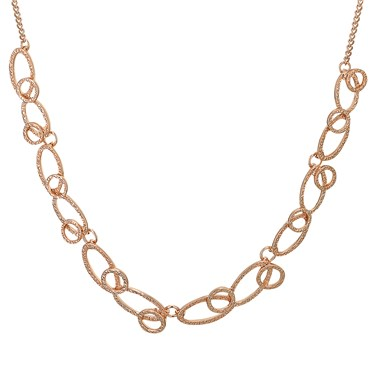August Woods Rose Gold Marble Circles Necklace