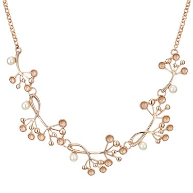 August Woods Rose Gold Pearl Circles Necklace