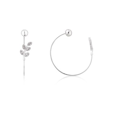 Dirty Ruby Outlet Silver Pull Through Leaf Earrings