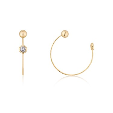 Dirty Ruby Gold Pull Through Earrings
