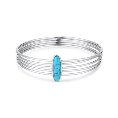 Dirty Ruby Turquoise Layered Bangle