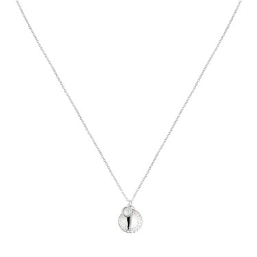 Argento Pearl Dimple Circle Necklace