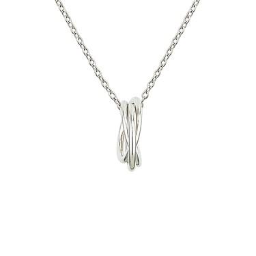 Argento Silver Interlinked Necklace