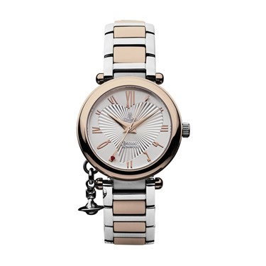Vivienne Westwood Rose Gold Steel Orb Watch  - Click to view larger image