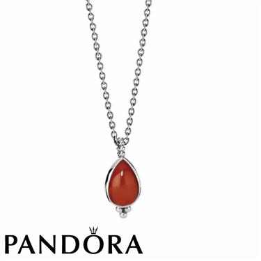Pandora Cornelian Necklace