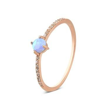 Argento Rose Gold Crystal Opal Ring Argentocom