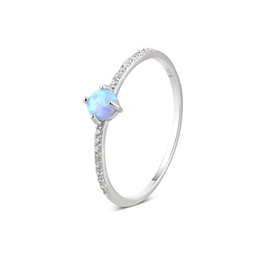 Argento Silver Crystal Opal Ring  - Click to view larger image