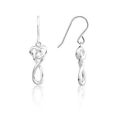Argento Heart Infinity Drop Earrings