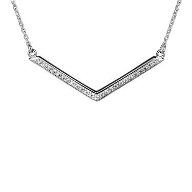 Argento V Shape CZ Necklace