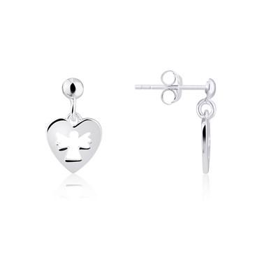 Argento Openwork Angel Heart Drop Earrings