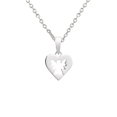 Argento Openwork Angel Heart Necklace