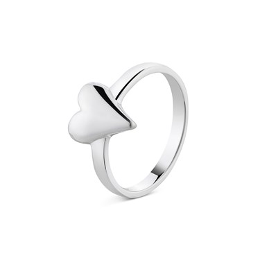 Argento Elongated Heart Ring