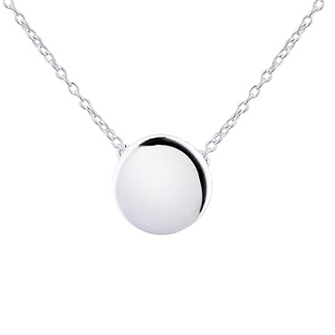 Argento Plain Circle Necklace  - Click to view larger image
