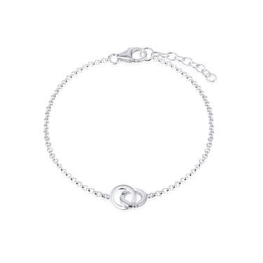 Argento Interlinking Circle Bracelet  - Click to view larger image