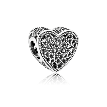 Pandora Heart Maze Charm  - Click to view larger image