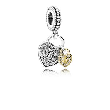 Pandora Love Locks Pendant Charm  - Click to view larger image