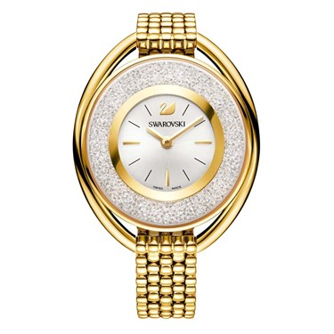 Swarovski Crystalline Oval Gold Bracelet Watch  - Click to view larger image