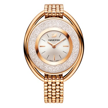 Swarovski Crystalline Oval Rose Gold Watch  - Click to view larger image