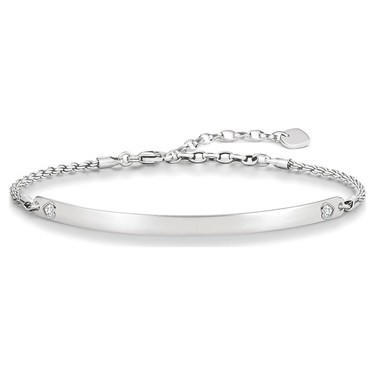 Thomas Sabo Love Bridge Silver Heart Bracelet 18cm  - Click to view larger image