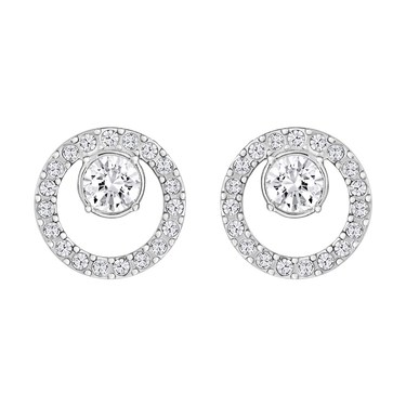 Swarovski Creativity Rhodium Earrings  - Click to view larger image
