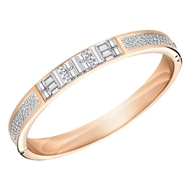 Swarovski Ethic Narrow Rose Gold Crystal Bangle