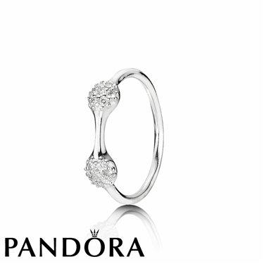 Pandora White Gold Two Pod Ring