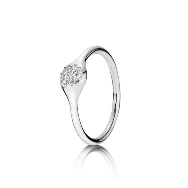 Pandora White Gold Single Pod Ring